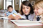 Children in school Stock Photo - Premium Royalty-Free, Artist: Westend61, Code: 6114-06609236