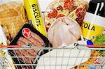 Food in a shopping basket Stock Photo - Premium Royalty-Free, Artist: Jose Luis Stephens, Code: 6114-06609553