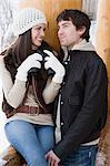 Young couple with binoculars Stock Photo - Premium Royalty-Free, Artist: Chris Hendrickson, Code: 6114-06609666
