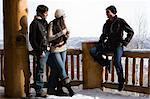 Friends at a ski resort Stock Photo - Premium Royalty-Free, Artist: Janet Foster, Code: 6114-06609674