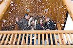 Friends throwing snow Stock Photo - Premium Royalty-Free, Artist: Siephoto, Code: 6114-06609690