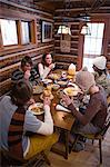 Friends having breakfast in chalet Stock Photo - Premium Royalty-Free, Artist: Siephoto, Code: 6114-06609876