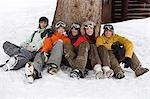 Snowboarders Stock Photo - Premium Royalty-Free, Artist: Westend61, Code: 6114-06609890