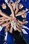 Football team bonding Stock Photo - Premium Royalty-Free, Artist: Blend Images, Code: 6114-06609905