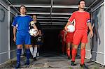 Footballers walking out of tunnel Stock Photo - Premium Royalty-Free, Artist: Beyond Fotomedia, Code: 6114-06609907