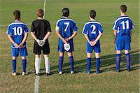 footballeur - Football team in a row Stock Photo - Premium Royalty-Freenull, Code: 6114-06609944