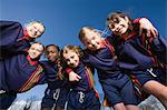 Girl footballers Stock Photo - Premium Royalty-Free, Artist: Blend Images, Code: 6114-06610055