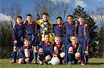 Portrait of a football team Stock Photo - Premium Royalty-Free, Artist: CulturaRM, Code: 6114-06610062