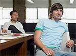 Two male media workers Stock Photo - Premium Royalty-Free, Artist: Blend Images, Code: 6114-06610090
