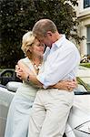Senior couple leaning on car Stock Photo - Premium Royalty-Free, Artist: Blend Images, Code: 6114-06610182