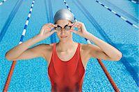 Female swimmer Stock Photo - Premium Royalty-Freenull, Code: 6114-06610214