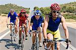 Cyclists on road Stock Photo - Premium Royalty-Free, Artist: ableimages, Code: 6114-06610231