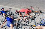 Cyclists after crash Stock Photo - Premium Royalty-Free, Artist: CulturaRM, Code: 6114-06610254