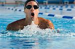 Man swimming Stock Photo - Premium Royalty-Free, Artist: CulturaRM, Code: 6114-06610257