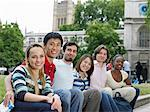Tourists sat infront of st margarets Stock Photo - Premium Royalty-Free, Artist: ableimages, Code: 6114-06610533