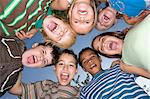Friends in a huddle Stock Photo - Premium Royalty-Free, Artist: Blend Images, Code: 6114-06610579