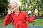 Girl at a playground Stock Photo - Premium Royalty-Free, Artist: CulturaRM, Code: 6114-06610580