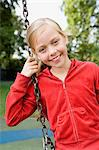 Girl at a playground Stock Photo - Premium Royalty-Free, Artist: CulturaRM, Code: 6114-06610642