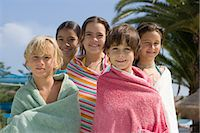 Kids wrapped in towels Stock Photo - Premium Royalty-Freenull, Code: 6114-06610655