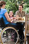 Family dining al fresco Stock Photo - Premium Royalty-Free, Artist: Blend Images, Code: 6114-06610752