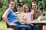 Portrait of a family Stock Photo - Premium Royalty-Freenull, Code: 6114-06610759