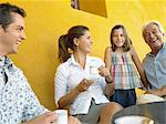 Family having coffee Stock Photo - Premium Royalty-Free, Artist: Ron Fehling, Code: 6114-06610818