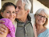 Woman with father and mother Stock Photo - Premium Royalty-Freenull, Code: 6114-06610830