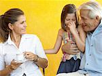 Girl with grandfather and mother Stock Photo - Premium Royalty-Free, Artist: Ron Fehling, Code: 6114-06610834