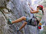 Teenage girl abseiling Stock Photo - Premium Royalty-Free, Artist: AWL Images, Code: 6114-06610856