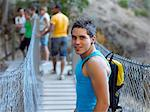 Teenage boy on a bridge Stock Photo - Premium Royalty-Free, Artist: CulturaRM, Code: 6114-06610862