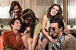 Friends in a club Stock Photo - Premium Royalty-Free, Artist: Blend Images, Code: 6114-06610991