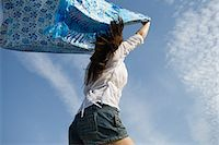 Woman with a blanket Stock Photo - Premium Royalty-Freenull, Code: 6114-06611005