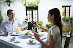 Couple toasting Stock Photo - Premium Royalty-Free, Artist: Aflo Relax, Code: 6114-06611056