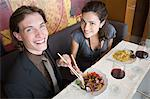Couple having a meal Stock Photo - Premium Royalty-Free, Artist: Aflo Relax, Code: 6114-06611467