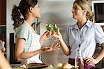 Women in kitchen having wine Stock Photo - Premium Royalty-Free, Artist: Cultura RM, Code: 6114-06611743