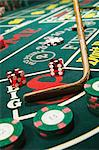 Croupier stick clearing craps table Stock Photo - Premium Royalty-Free, Artist: Robert Harding Images, Code: 6114-06611828