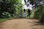 couple walking down dirt road Stock Photo - Premium Royalty-Free, Artist: Aflo Relax, Code: 6114-06611965