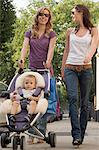 Women going shopping with baby Stock Photo - Premium Royalty-Free, Artist: Siephoto, Code: 6114-06611984