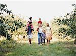 Family walking in an orchard Stock Photo - Premium Royalty-Free, Artist: Kablonk! RM, Code: 6114-06612080