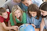 School students with a globe Stock Photo - Premium Royalty-Free, Artist: CulturaRM, Code: 6114-06612116