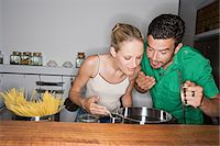smelly - Couple cooking Stock Photo - Premium Royalty-Freenull, Code: 6114-06612358