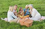 Family having a picnic Stock Photo - Premium Royalty-Free, Artist: CulturaRM, Code: 6114-06612542