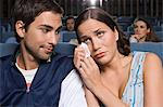 Man and crying girlfriend in cinema Stock Photo - Premium Royalty-Free, Artist: CulturaRM, Code: 6114-06612694
