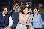 People watching exciting 3D movie Stock Photo - Premium Royalty-Free, Artist: Cultura RM, Code: 6114-06612719