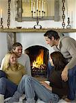 Friends by the fire Stock Photo - Premium Royalty-Free, Artist: Ikonica, Code: 6114-06612810