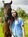 Beautiful woman with horse Stock Photo - Premium Royalty-Free, Artist: Beanstock Images, Code: 6114-06612850