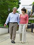 Mature couple walking hand in hand Stock Photo - Premium Royalty-Free, Artist: Kablonk! RM, Code: 6114-06612888