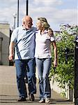 Mature couple strolling Stock Photo - Premium Royalty-Free, Artist: Nico Tondini, Code: 6114-06612900