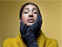 silky - Glamorous woman Stock Photo - Premium Royalty-Freenull, Code: 6114-06613012