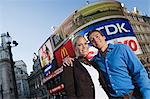 Couple in Piccadilly Circus Stock Photo - Premium Royalty-Freenull, Code: 6114-06613056